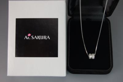 プレゼントに最適☆「Ar、SAKURA」(アール・サクラ)の新作!ZEROII ベネチアスライド式ペンダント シルバー925プラチナコーティング